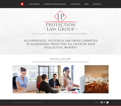 Modern Website Design for Intellectual Property Law Group