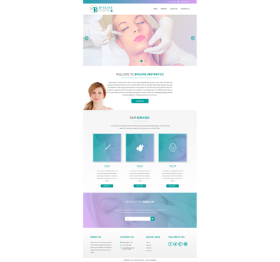 Aesthetic Consulting/Training Complete Web Design Solution  Draft # 62 by 5StarDesigners