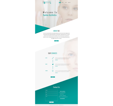 Aesthetic Consulting/Training Complete Web Design Solution  Draft # 63 by 5StarDesigners
