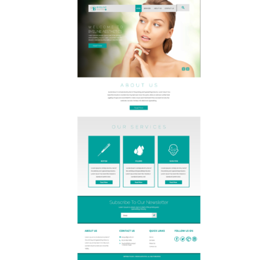 Aesthetic Consulting/Training Complete Web Design Solution  Draft # 66 by 5StarDesigners