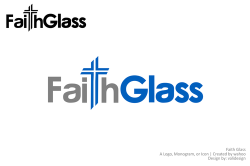 Faith Glass (a cross fro the t) A Logo, Monogram, or Icon  Draft # 135 by validesign