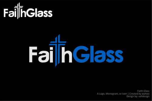 Faith Glass (a cross fro the t) A Logo, Monogram, or Icon  Draft # 136 by validesign