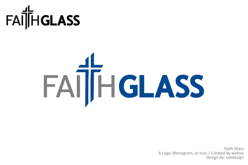 Faith Glass (a cross fro the t) A Logo, Monogram, or Icon  Draft # 137 by validesign