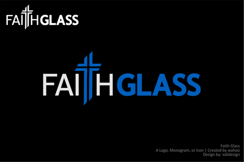 Faith Glass (a cross fro the t) A Logo, Monogram, or Icon  Draft # 138 by validesign