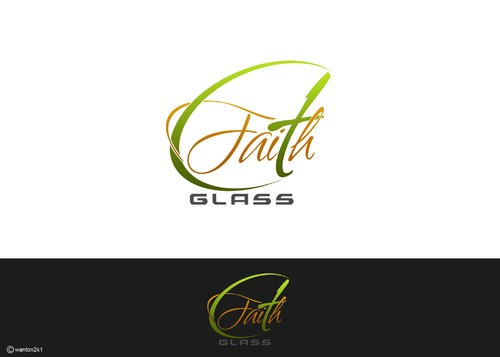 Faith Glass (a cross fro the t) A Logo, Monogram, or Icon  Draft # 150 by wanton2k1