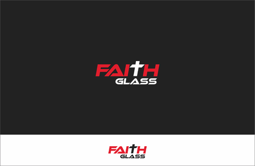 Faith Glass (a cross fro the t) A Logo, Monogram, or Icon  Draft # 165 by tomovart