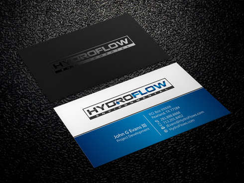 HydroFlow Environmental Business Cards and Stationery  Draft # 149 by Xpert
