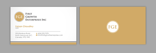 Firsth Growth Enterprises Inc Business Cards and Stationery  Draft # 2 by sevensky