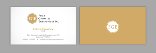 Firsth Growth Enterprises Inc Business Cards and Stationery  Draft # 5 by sevensky