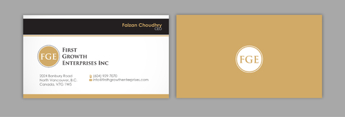 Firsth Growth Enterprises Inc Business Cards and Stationery  Draft # 6 by sevensky