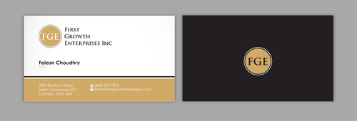 Firsth Growth Enterprises Inc Business Cards and Stationery  Draft # 7 by sevensky