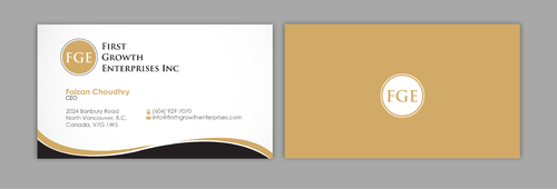 Firsth Growth Enterprises Inc Business Cards and Stationery  Draft # 9 by sevensky