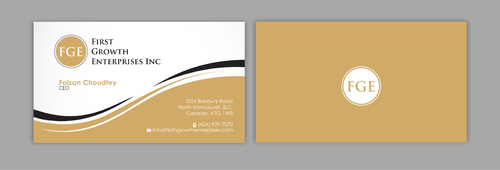 Firsth Growth Enterprises Inc Business Cards and Stationery  Draft # 11 by sevensky