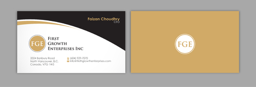 Firsth Growth Enterprises Inc Business Cards and Stationery  Draft # 12 by sevensky