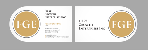 Firsth Growth Enterprises Inc Business Cards and Stationery  Draft # 13 by sevensky