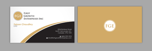 Firsth Growth Enterprises Inc Business Cards and Stationery  Draft # 14 by sevensky