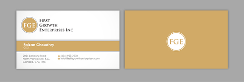 Firsth Growth Enterprises Inc Business Cards and Stationery  Draft # 15 by sevensky