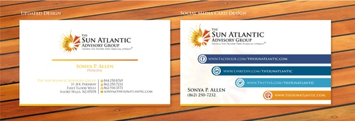 The Sun Atlantic Advisory Group Business Cards and Stationery Winning Design by sevensky