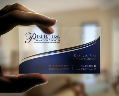 Pike Funeral and Cremation Services Business Cards and Stationery Winning Design by einsanimation