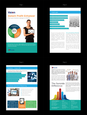 Sunoida Solutions Marketing collateral Winning Design by pivotal