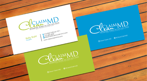 Clean Claim MD Business Cards and Stationery  Draft # 1 by sevensky