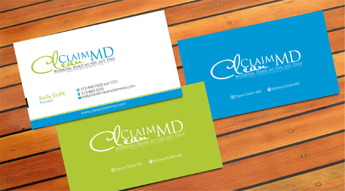 Clean Claim MD Business Cards and Stationery  Draft # 2 by sevensky