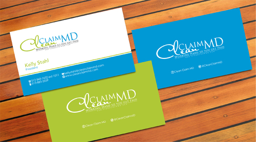 Clean Claim MD Business Cards and Stationery  Draft # 3 by sevensky