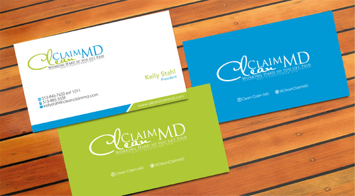 Clean Claim MD Business Cards and Stationery  Draft # 4 by sevensky