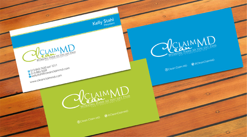 Clean Claim MD Business Cards and Stationery  Draft # 5 by sevensky