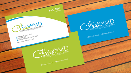 Clean Claim MD Business Cards and Stationery  Draft # 7 by sevensky