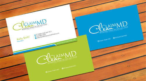 Clean Claim MD Business Cards and Stationery  Draft # 8 by sevensky