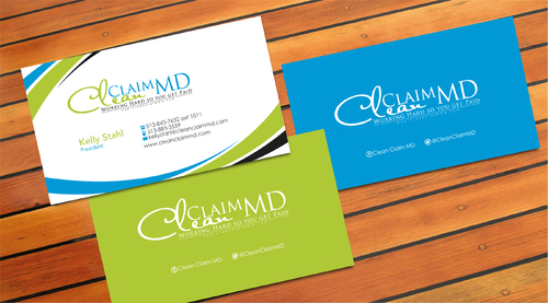 Clean Claim MD Business Cards and Stationery  Draft # 10 by sevensky