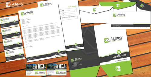 Multi-Family Interior & Exterior Renovations Business Cards and Stationery Winning Design by sevensky