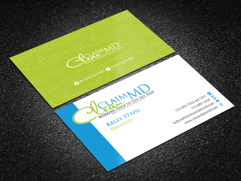 Clean Claim MD Business Cards and Stationery  Draft # 173 by einsanimation