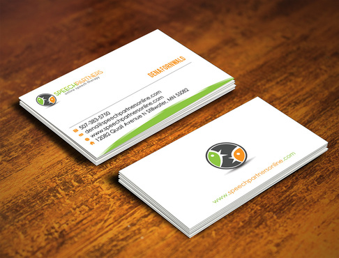 Speech Partners Business Cards and Stationery  Draft # 47 by webhubsolution