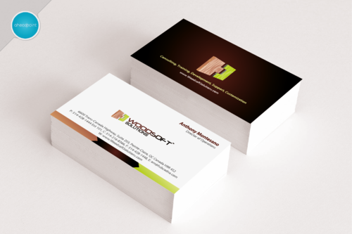 Woodsoft Solutions  Business Cards and Stationery Winning Design by aheadpoint