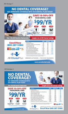 Print ad for Discount Dental Plan Marketing collateral Winning Design by Achiver