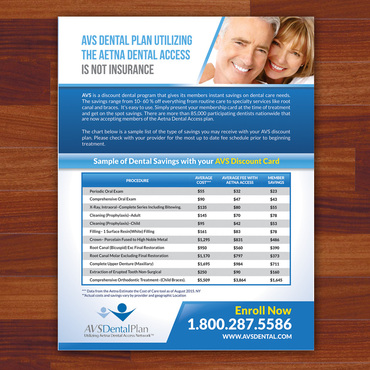 Print ad for Discount Dental Plan Marketing collateral  Draft # 38 by Kaiza