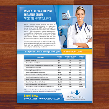 Print ad for Discount Dental Plan Marketing collateral  Draft # 39 by Kaiza