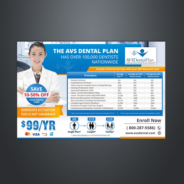 Print ad for Discount Dental Plan Marketing collateral  Draft # 42 by Kaiza