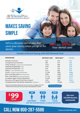 Print ad for Discount Dental Plan Marketing collateral  Draft # 51 by mwgrafis