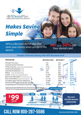 Print ad for Discount Dental Plan Marketing collateral  Draft # 52 by mwgrafis
