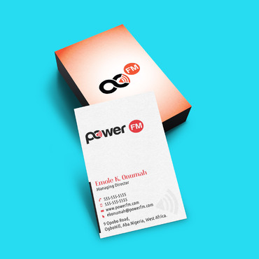 Power FM Business Cards and Stationery  Draft # 188 by webhubsolution
