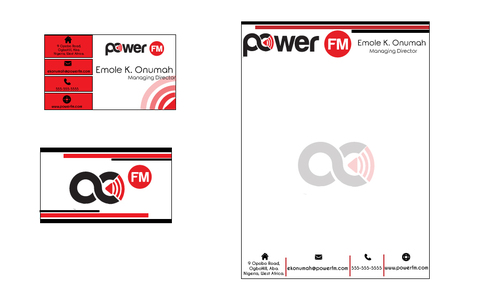 Power FM Business Cards and Stationery  Draft # 262 by BornArtist
