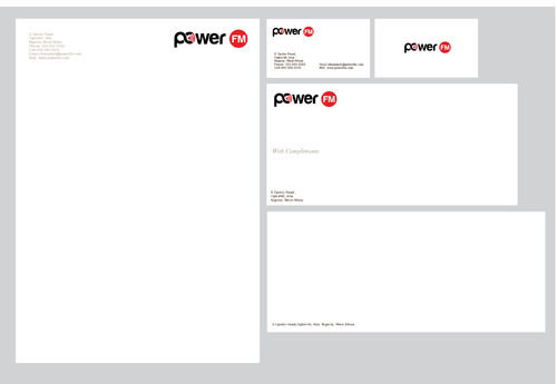 Power FM Business Cards and Stationery  Draft # 264 by bilalali