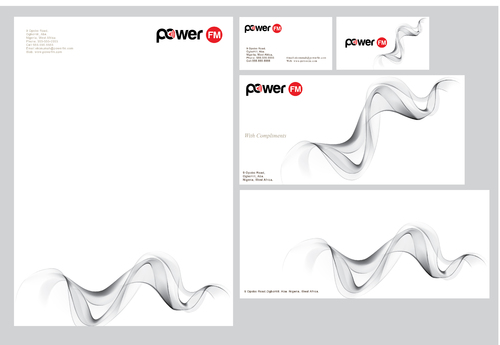Power FM Business Cards and Stationery  Draft # 265 by bilalali