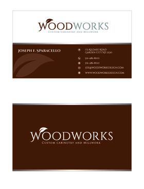 Woodworks custom cabinetry and millwork Business Cards and Stationery  Draft # 27 by Designeye