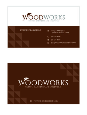 Woodworks custom cabinetry and millwork Business Cards and Stationery  Draft # 35 by Designeye