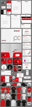 Power FM Business Cards and Stationery Winning Design by aheadpoint