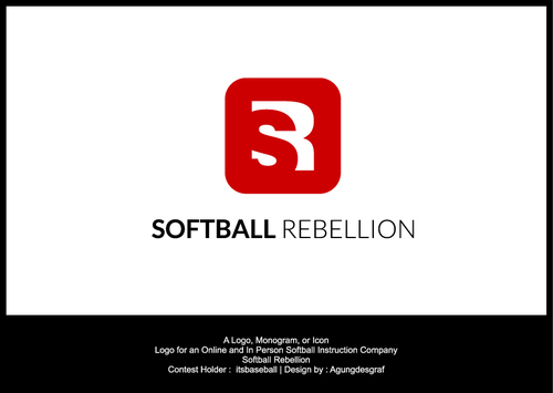 Softball Rebellion A Logo, Monogram, or Icon  Draft # 59 by agungdesgraf